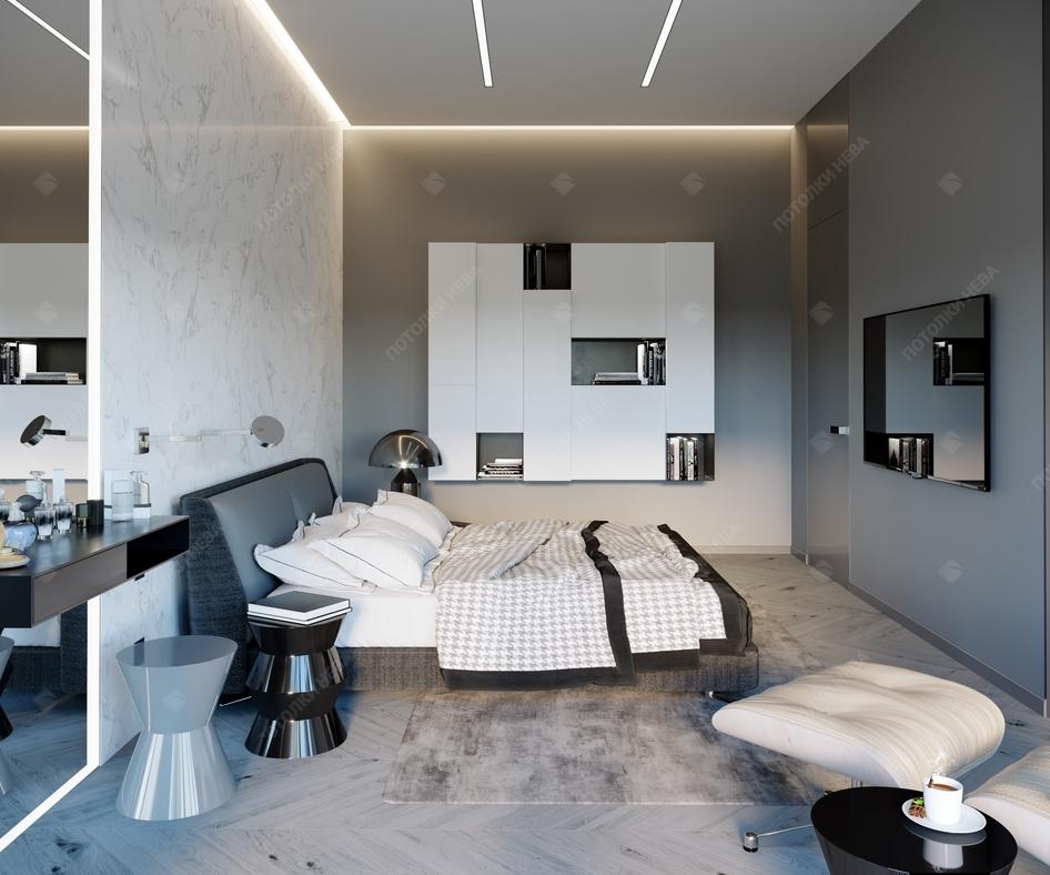 Светодиодный потолок в спальне
