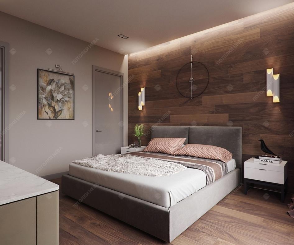 Спальня со светодиодным потолком