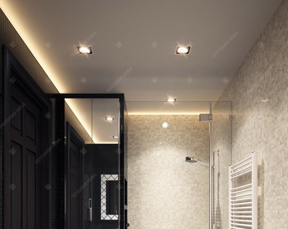 Светодиодный потолок в ванной