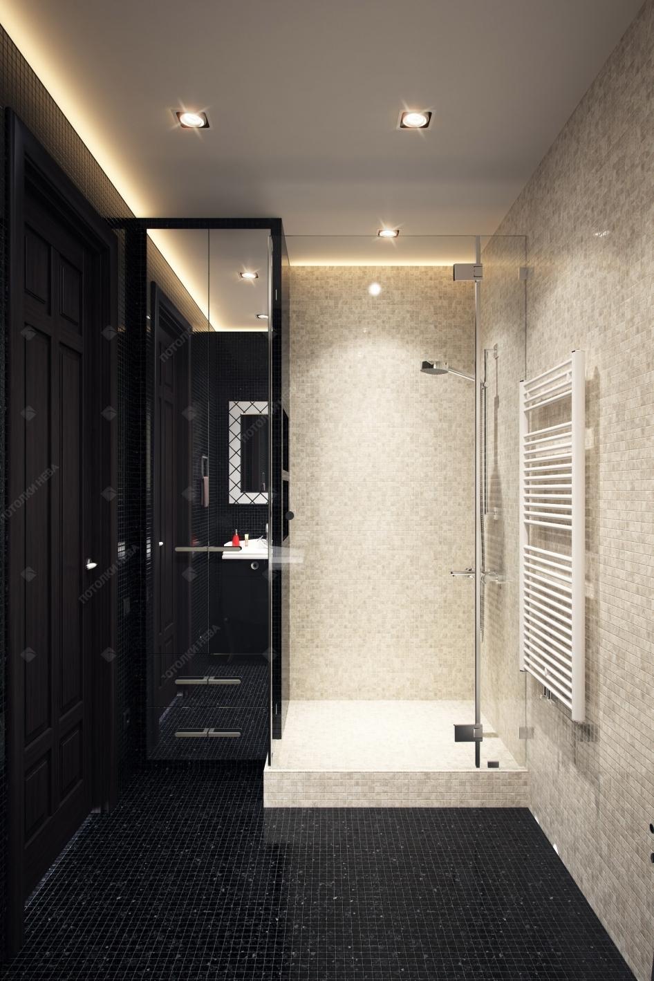 Светодиодный парящий потолок в ванной